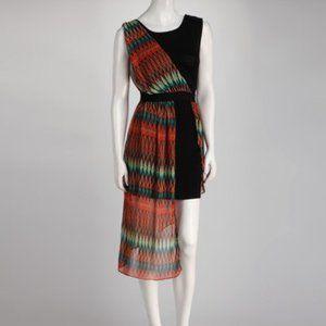 Grecian Style One Shoulder Chevron Dress NEW
